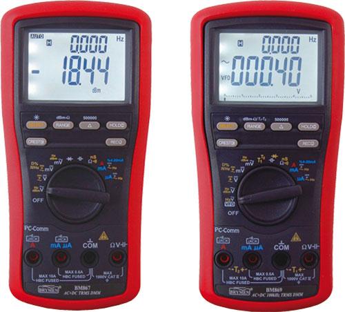 Digital multimeters True RMS,USB 1000V AC/DC, BM867, BM869 |EN|