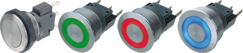 Vandal resistant push-button switches, MSM 22 series, 1241.6631.1120000, 1241.6631.1180000 |EN|