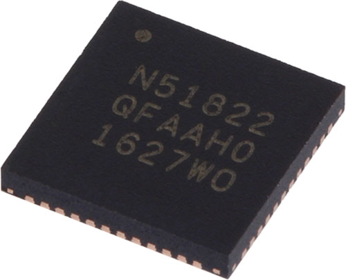 Bluetooth transceivers by Nordic Semiconductor, NRF52840-QIAA-R