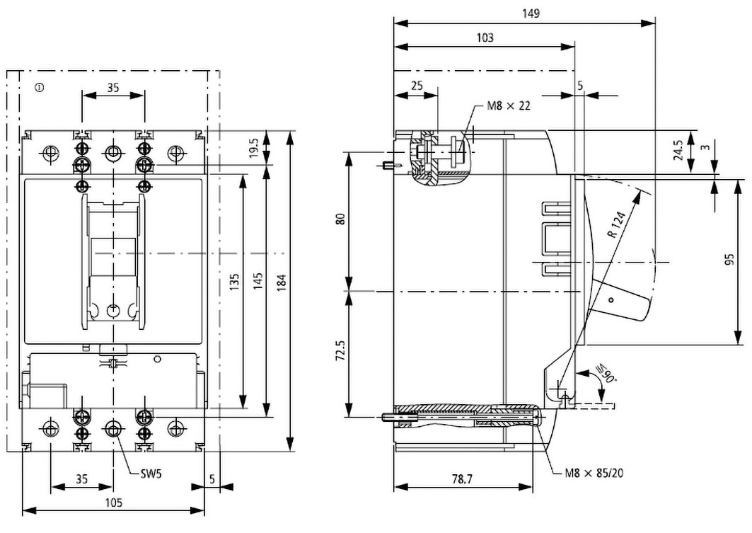 lzmc2-a160-i eaton electric - power breaker