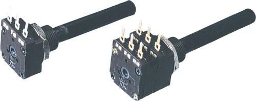 Potenciómetro PC16 mono lineal o logarítmico Pote PIHER 100R a 2M5