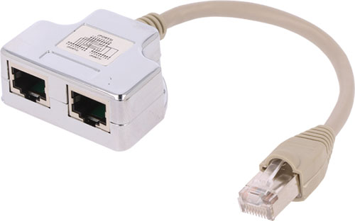 Multiprise 1 1 rj45 1x prise 2x socle at agcx2 fr - Cable ethernet multiprise ...