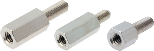 Metal spacing sleeves with internal and external thread, TFM-M3/5, TFM-M3/8, TFM-M3/10 |EN|
