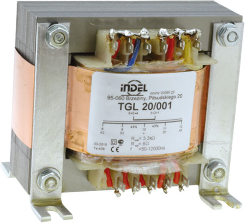 Speaker transformers for vacuum-tube amplifiers, TGL series, TGL5/001, TGL5/002, TGL15/001 |EN|