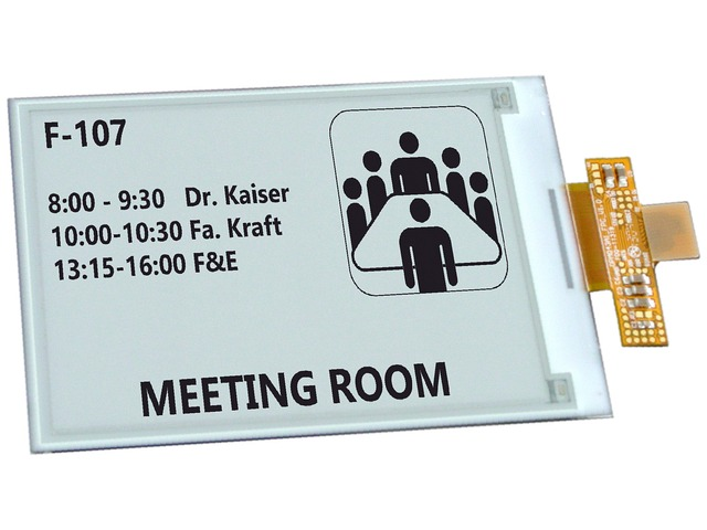 ED013TC1 - Electronic Paper display from E Ink Co. (2 Gray Level, 27 , 256x128)