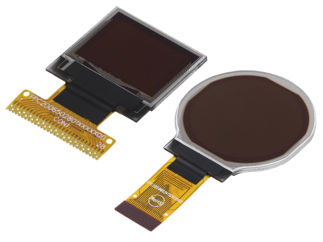 Flat Electronic Cables : Oled displays with flexible flat cables from electronic