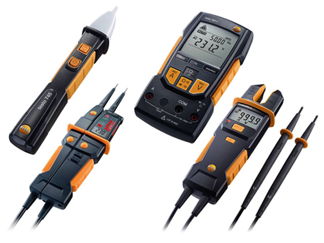tools for measuring electrical quantities from testo company