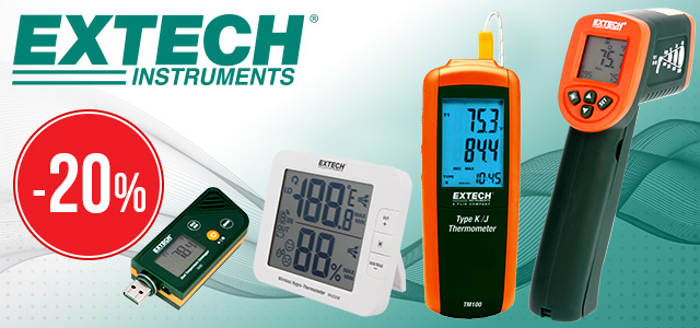 Measuring devices from EXTECH now with up to 20% discount
