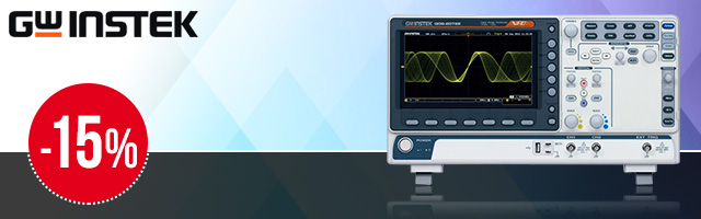 Selected oscilloscopes from GW Instek up to 15% off!