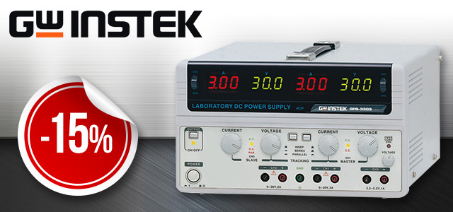 Selected GW Instek power supply units available with a discount at TME!