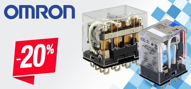Industrial relays from Omron up to 20% off!