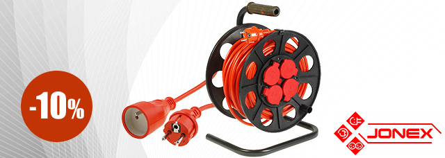 Cables, extension cords, and reels from JONEX up to 10% off!