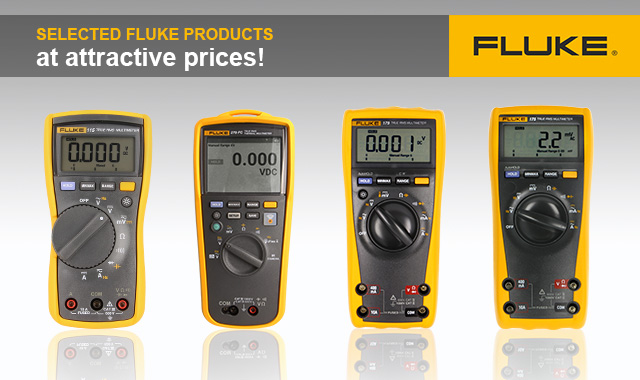 Selected Fluke products with an attractive discount!